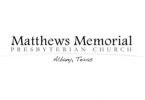 We've donated to the Matthews Memorial Presbyterian Church as part of our community involvement.